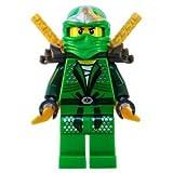 Lloyd ZX (Green Ninja) with Dual Gold Swords - LEGO Ninjago Minifigure