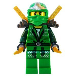 Lloyd ZX Green Ninja with Dual Gold Swords - LEGO