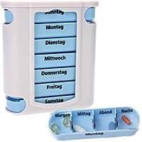 Preisvergleich für 2 x 7 Tage Pillendose Tablettenbox - Pillenbox - Tablettendose Tabletten Pillen