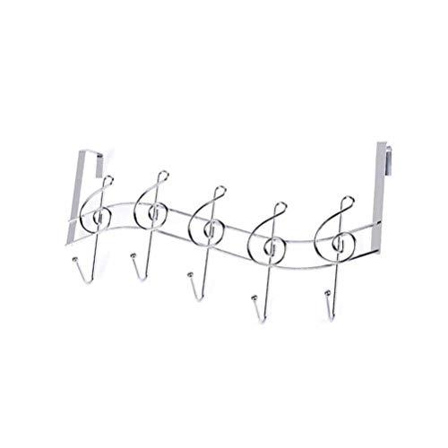 BESPORTBLE 2 stücke Kreative Musik Notes Wand Haken Küche Bad Organizer Kleiderbügel Haken Mental Eisen Rack Mit 5-Haken (Note Kleiderbügel)