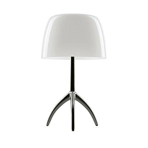 Foscarini Lampe de table Foscarini Lumiere 05 Grande – Chrome noir/blanc