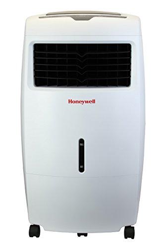 Honeywell Natürlichen (Honeywell Verdunstungsluftkühler, mobiles Klimagerät, kühlt und reinigt die Luft bis 28 m², Fernbedienung, 25 LWassertank, energieeffizient, weiß, CL25AE)