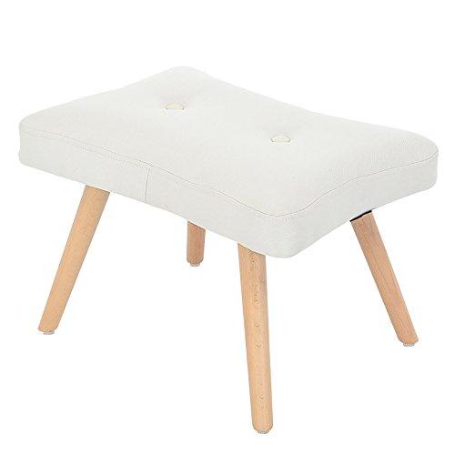 LJHA Tabouret pliable Tabouret en bois solide/Foyer de ménage changeant des chaussures Tabouret/tabouret de petit salon de salon chaise patchwork (Couleur : Blanc, taille : De 55 cm)