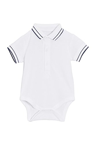 next Baby Jungen Polo Shirt Body Weiß 3-6 Monate Baby-polo-body
