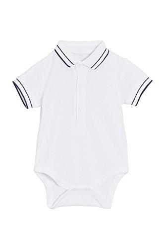 next Baby Jungen Polo Shirt Body Weiß Hasta 3 Monate - Jungen Langarm-polo-shirt