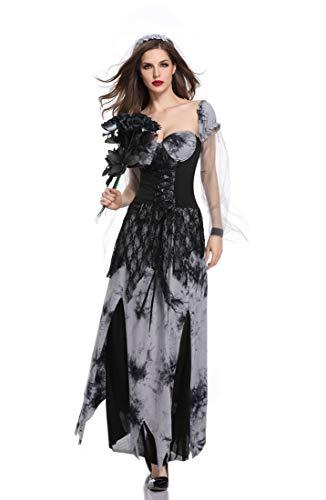 Erwachsene Frauen Halloween Dämon Vampir Geist Braut Sensenmann Kostüm Spiel Charakter Uniform Kleid, Legends of ()