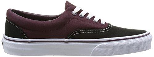 Vans 0, Sneaker a Collo Basso Unisex-Adulto Nero (Noir (Black/Winetasting))