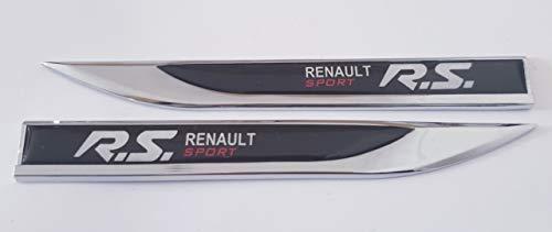 Preisvergleich Produktbild DEB 1 Paar Metall 3D Reitted Fahrzeug Auto Zeichen Emblem Badge Aufkleber Auto Tür Fender Seitenaufkleber für R.S Renault Sport schwarz