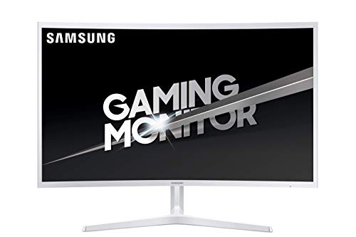 "Samsung C32JG51 Monitor Full HD da Gaming Curvo da 32"" per Console, Base a Doppio Snodo, 1920x1080, 1800R, 4 ms, 144 Hz, 2 HDMI, 1 Display Port, Bianco"