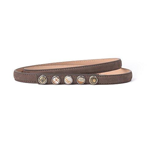 Brown Skinny Belt (Noosa Gürtel Belt Petite Classic Skinny brown, Grösse:85)