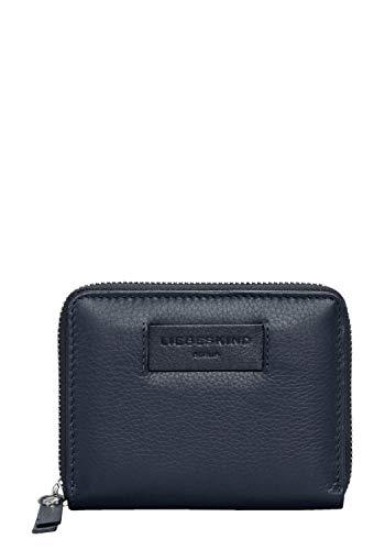 Blaue Mini Geldbörse (Liebeskind Berlin Damen Essential Conny Wallet Medium Geldbörse, Blau (Navy Blue), 3x11x13 cm)