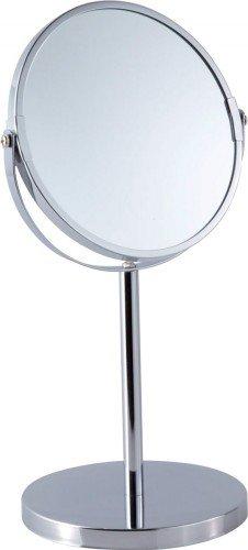 Sanwood 6651400.0 Karla Kosmetikspiegel 1:Ansicht Standspiegel 5-Fach Vergrößerung, Metall, Chrom, 14.9 X 18.7 X 34.5 Cm