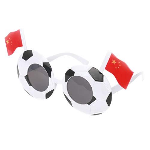 Kreative Kostüm Fan Fußball - NUOBESTY Fußball Sonnenbrille mit Nationalflagge Weltmeisterschaft Brillen Fan Prop für Fußballspiel Fußballparty (China)