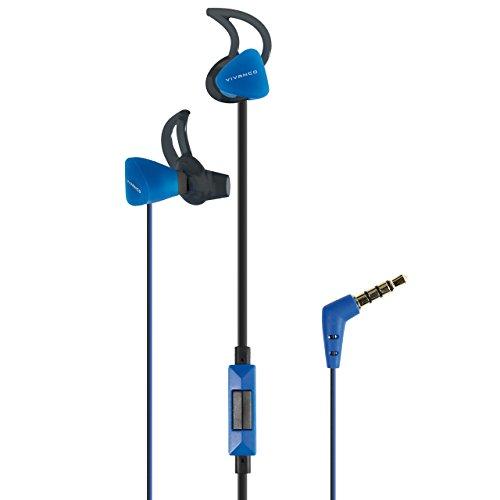 Vivanco Sport SPX 60 B - Auriculares (Alámbrico, Gancho de Oreja, Dentro de oído, Binaural, Intraaural, 15-22000 Hz, Negro, Azul)