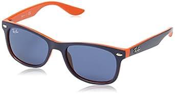 RAY BAN JUNIOR Unisex Kid's 9052S Sunglasses, top blue on