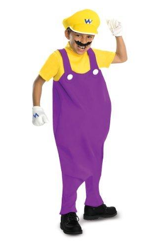 Rubies Kost-me 211754 Super Mario Bros. - Wario Deluxe Kleinkind - Kinderkost-m Purple-Yellow Small - - Wario Kostüm Zubehör