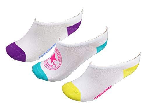 Converse Damen Socken Ultra Low 3er Pack Füßlinge 35-38 Weiß E128W-3009