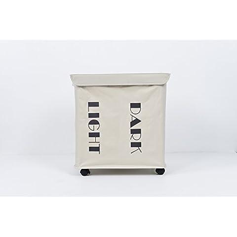 Star Home tamaño grande plegable bolsa de lavandería cesta de ruedas