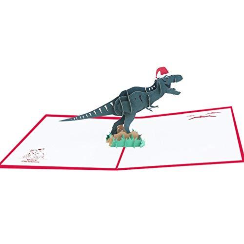 ßkarten Kunst Geburtstags-Dinosaurier-Karte Weihnachts Valentine'Day Party Hochzeit Dekoration ()