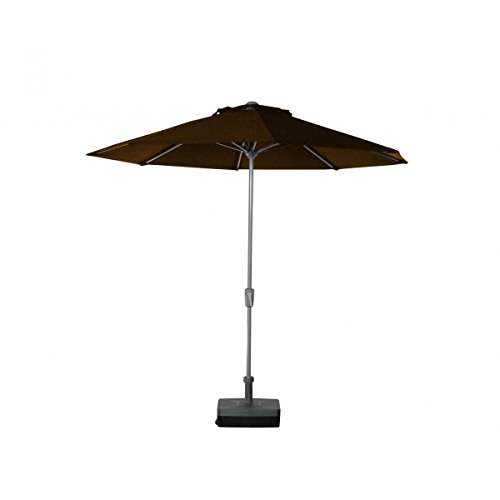 Parasol - Teatro Rond 2.7m O'Bravia 300g/m2 Taupe + Pied remplissable