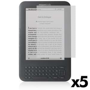 7dayshop ScreenGuard / Screen Protector for Amazon Kindle 3 - Matte (Anti-Glare) - (x 5 Shields)