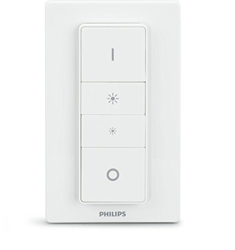 Philips Hue Wireless Lighting Dimmer Switch Smart Accessory, Apple HomeKit Enabled, Works with Alexa,White