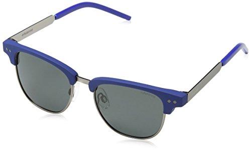 Polaroid Unisex-Kinder PLD 8023/S M9 RCT 47 Sonnenbrille, Blau (Matt Blue/Grey Pz),