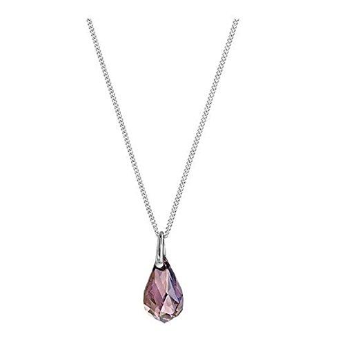 Swarovski collana da donna con ciondolo energic rodiato lilla 38cm–5195922