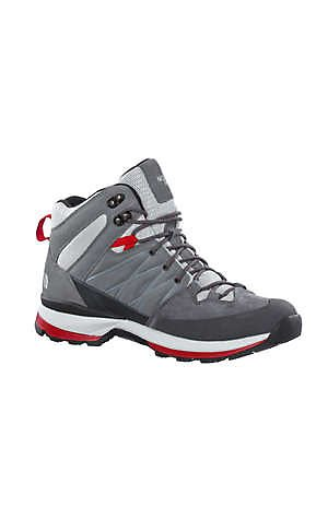 North Face Wreck Mid GTX Brown / Burnt Orange - hommes Zinc Grey/TNF Red