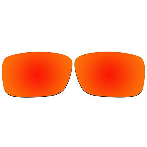 Acompatible OO9165 Ersatzgläser für Sonnenbrille Oakley Crankcase, Fire Red Mirror - Polarized