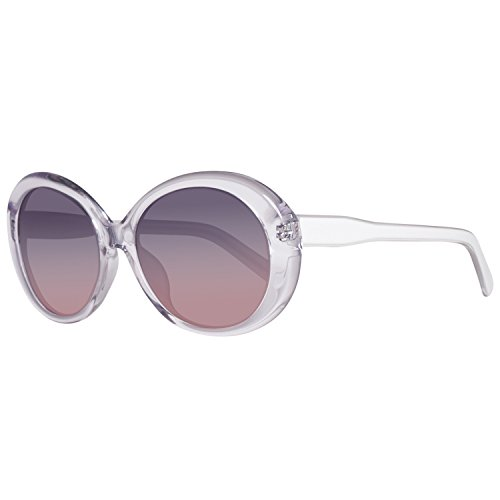 United Colors of Benetton Damen BE906S04 Sonnenbrille, Transparent (Crystl/White), 55