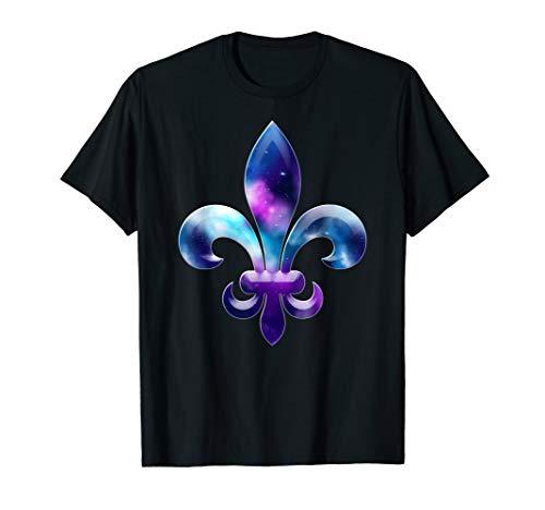 Fleur De Lis Mardi Gras Karneval Galaxy Party T-Shirt - Lis-mardi Gras De Fleur