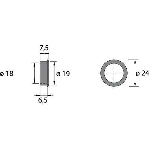 1 Stück Zylinder-Kastenschloss -Prestige 2000- D=25mm RS+LS 9133917
