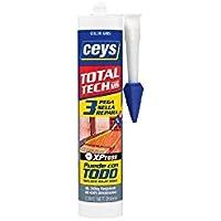 Ceys M128781 - Masilla poliuretano ms-tech 310 ml gris