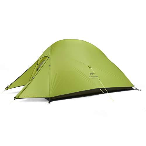 Naturehike Cloud-up 2 Upgrade Ultraleichte Zelte Doppelten 2 Personen Zelt 3-4 Saison für Camping Wandern (20D Hellgrün Upgrade)