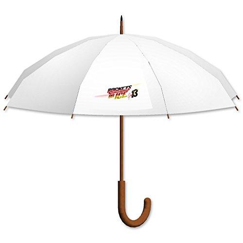Regenschirm, Stockschirm, Motiv 'EGGERT & BENECKEN' weiß, gebogener Griff ( V.I.P. Pictures powered by CRISTALICA )