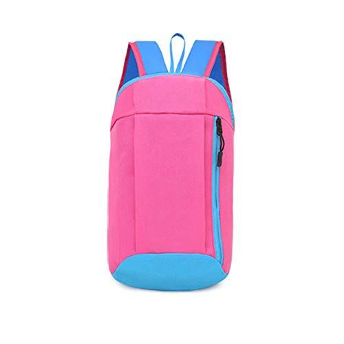 Skang Damen Canvas Rucksack Backpack Mode Mit Reißverschluss Daypacks Schüler Bag Schultaschen Handtasche Für Frauen Herren Wandern Reisen Camping(Einheitsgröße,Fuchsia)