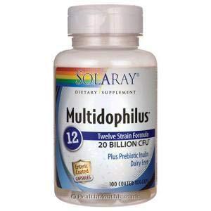 Solaray, Multidophilus 12 (Darmflora Probiotikum), 20 Billion, 100 Veg. Kapseln