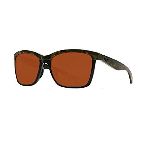 Neue Costa del Mar ANA109OCGLPMens Olive Schildkröte Rahmen Brown Lens Wrap Sonnenbrille