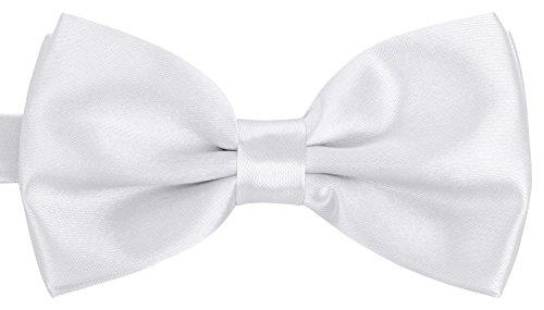 BomGuard Fliege für Herren weiss I Männer Fliege für Hochzeit, Party oder edele Anlässe I Trendy Bow Tie I Herrenfliege