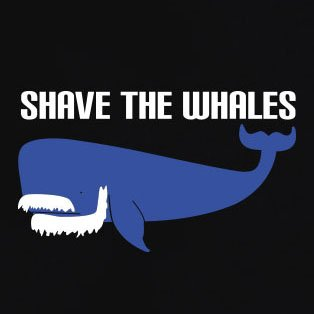 TEXLAB - Shave the Whales - Herren T-Shirt Navy