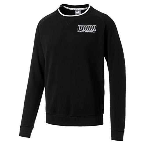 Puma Herren Athletics Crew TR Sweatshirt, Cotton Black, S Athletic Crew Pullover
