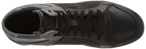 Geox U Box E, Chaussures De Tennis Nero / Gris