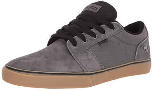 ETNAB|#Etnies Herren Barge LS Skateboardschuhe, ((Grey/Black/Gum 031), 11 UK EU - Grau Wildleder Skate Schuh
