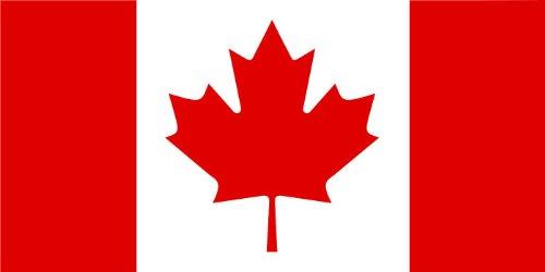10,8 x 5,4 cm - korrektes Seitenverhältniss - Autoaufkleber Kanada Canada Sticker Aufkleber fürs Auto Motorrad Handy Laptop (Kanada Aufkleber)
