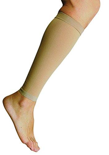 MANIFATTURA BERNINA Variform 1506 (taglia 5) - Polpaccere elastiche medicali poliestensive tubolari beige in cotone compressione 23-32 mmHg classe 2