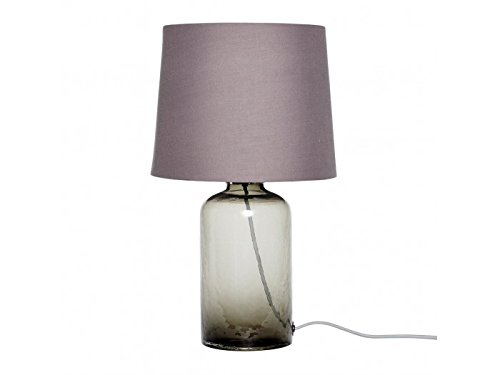 hubsch-table-lamp-w-fabric-shade-recycled-glass-grey
