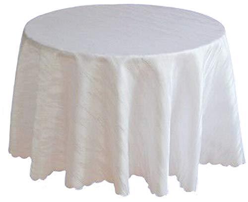 Ilkadim Damast Tischdecke weiß bügelfrei, Marmor-Design, 120cm, 135cm Oder 160cm Durchmesser, Tischtuch-Größe auswählbar (135cm) (120 Weiße Runde Tischdecke)