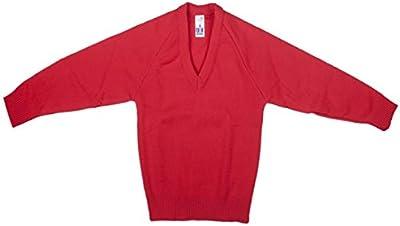 Nueva Escuela Uniforme sudadera Jersey Liso Cuello En V, Pack de 2