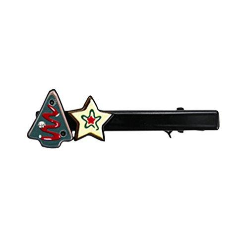 Blue Vessel Kinder Baby Haar Ornamente Weihnachten Haar Clip Cartoon Santa Claus Elch Mund Duckbill Kopfschmuck (4#) (Vier Weihnachts-ornament)